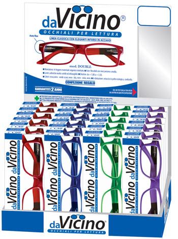 La linea davicino double di occhiali da lettura premontati for Design basso costo